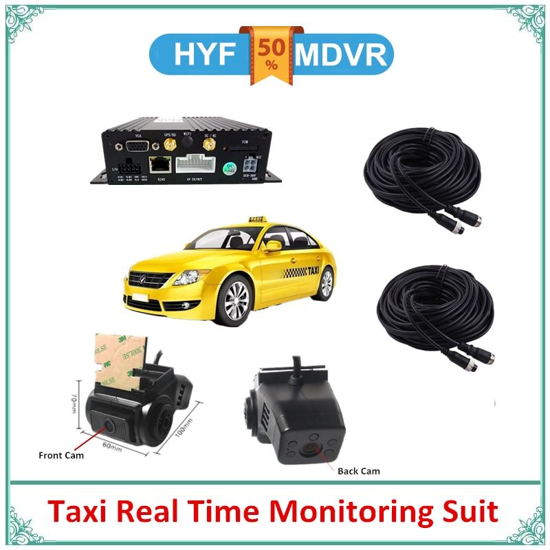 Barato MDVR 4CH Kit H.264 coche Taxi móvil Set DVR con almacenamiento de tarjeta Dual SD