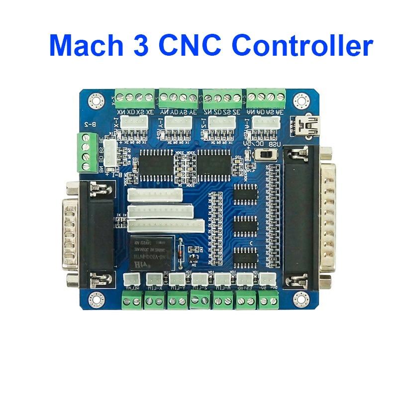 Placa controladora CNC Mach3 de 5 ejes para Motor paso a paso de máquina con interfaz USB