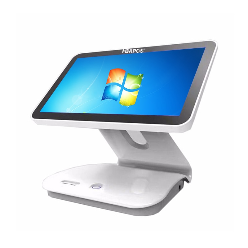 windows pc 15 inch cash register pos system machine J3710 CPU 4GB RAM 64GB SSD LED Singel Touch Screen retail POS Terminal
