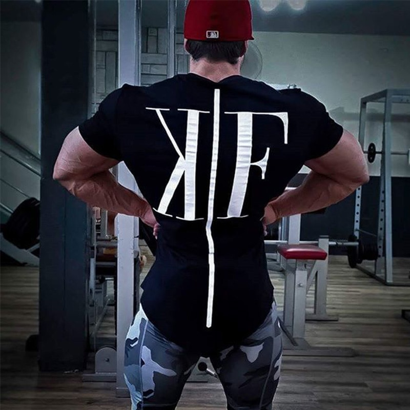 Yaz Yeni Varış Vücut Geliştirme Spor Erkek kısa kollu tişört Spor Salonları Gömlek Erkekler Kas Tayt marka Spor T Gömlek Tops