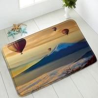 hot air balloon non slip bathroom mat mountain natural scenery bedroom kitchen doormat indoor floor mats absorbent rug washable