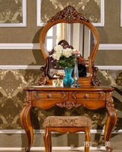 Table miroir européenne antique chambre commode meubles français coiffeuse française 1209