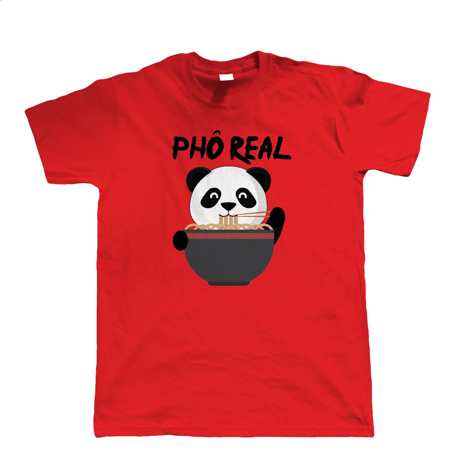 Pho Real Panda camiseta divertida para hombre-Sopa de comida vietnamita   artista invitado JG