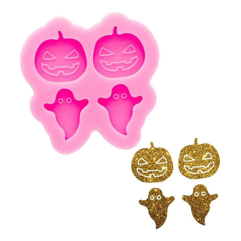 Halloween Pumpkin Ear Studs Silicone Mold is Suitable for Resin Epoxy Resin Diy Craft Pendant Earrings Jewelry Making gemstone jewelry silicone mold is suitable for resin epoxy resin diy craft earrings pendant earrings jewelry making