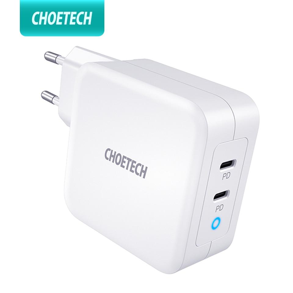 CHOETECH PD 100 واط غان المزدوج USB نوع C شاحن ل ماك بوك اير باد آيفون 12 برو سامسونج هواوي ASUS الجدار شاحن لينوفو ديل