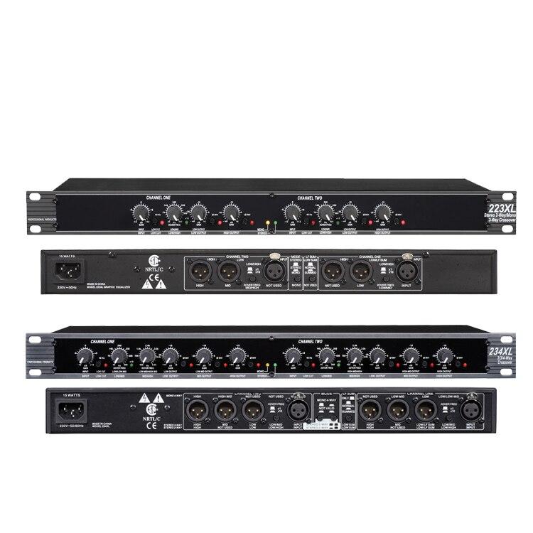 Estéreo de 2/3 vías, cruzado Mono de 4 vías para DBX 234XL XLR salida equilibrada de baja frecuencia SUMED (subwoofer)