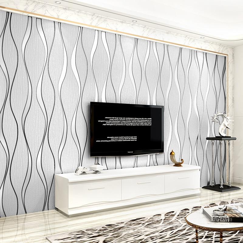 Современная 3D абстрактная Геометрическая настенная бумага в рулоне для комнаты, спальни, гостиной, домашний декор, настенная бумага белого,...