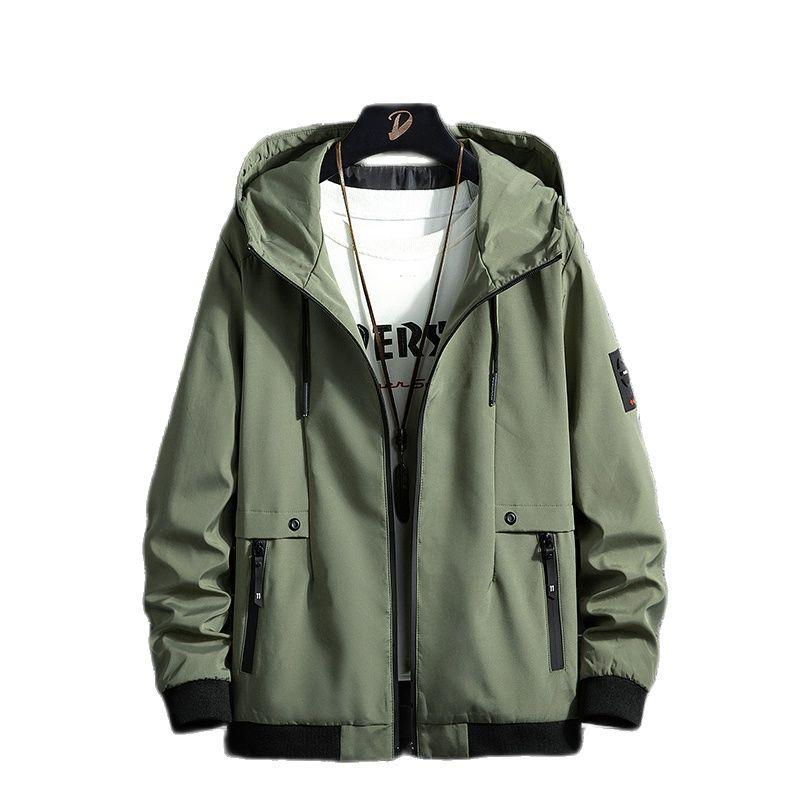Новинка осени 2021, мужские куртки с капюшоном, Повседневная модная куртка-бомбер, бейсбольные куртки, Мужское пальто, куртка, пальто
