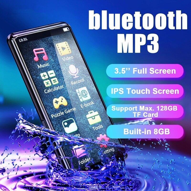 Mahdi M9 bluetooth 5.0 8GB Lossless MP3 MP4 Player 3.5inch HD IPS Full Screen External Speaker Ebook TF Card Music Player enlarge