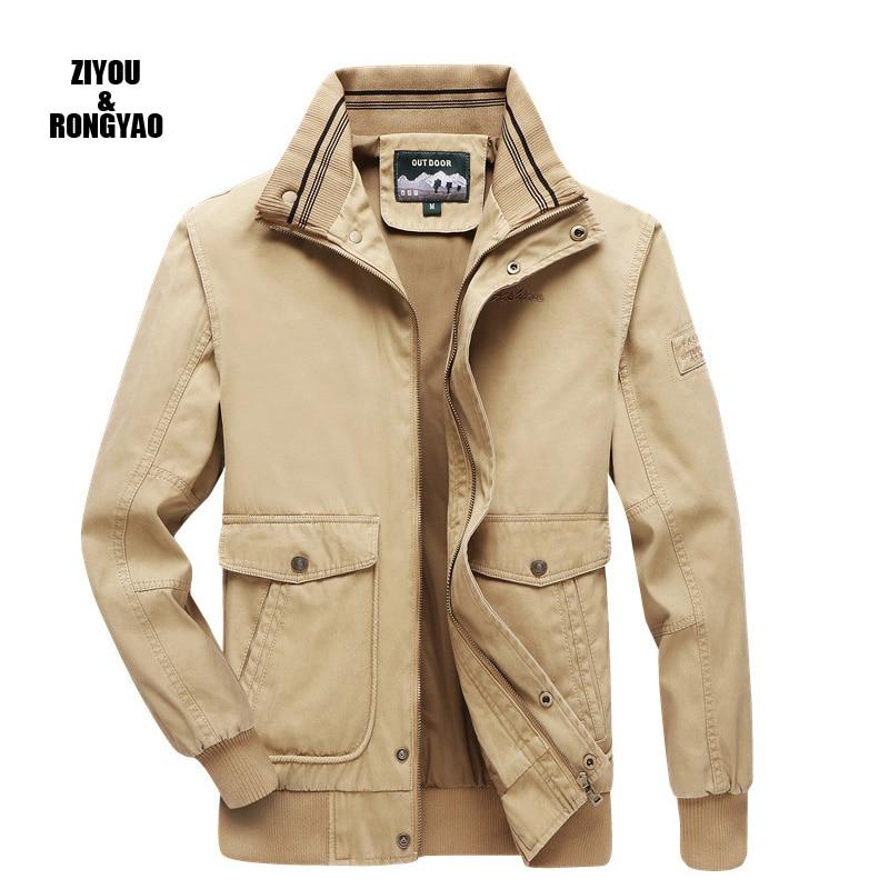 2020 мужская куртка 100% хлопковая куртка, повседневная классическая зимняя куртка мужская плащ-ветровка модная верхняя одежда размера плюс
