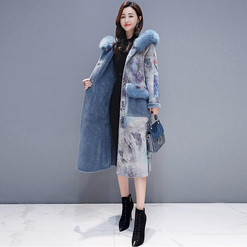 Abrigo de piel de ante con capucha para Mujer, Abrigo grueso de...