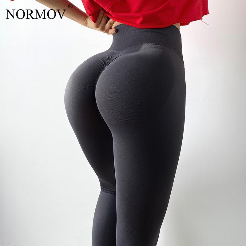 NORMOV Women Leggings Gym High Waist Elasticity Workout Leggins Push Up Sexy Sport Fitness Fashion Legging Women