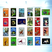 Tintin Cartoon Zinn Zeichen Metall Platte Shabby Chic Wand Kinder Zimmer Bar Kaffee Home Kunst Handwerk Vintage Decor 30X20CM DU-2933