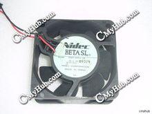 Para Nidec D06T-24TU 24 DC24V 0.10A 6025 6CM 60mm, 60x60x25mm 2pin ventilador de refrigeración