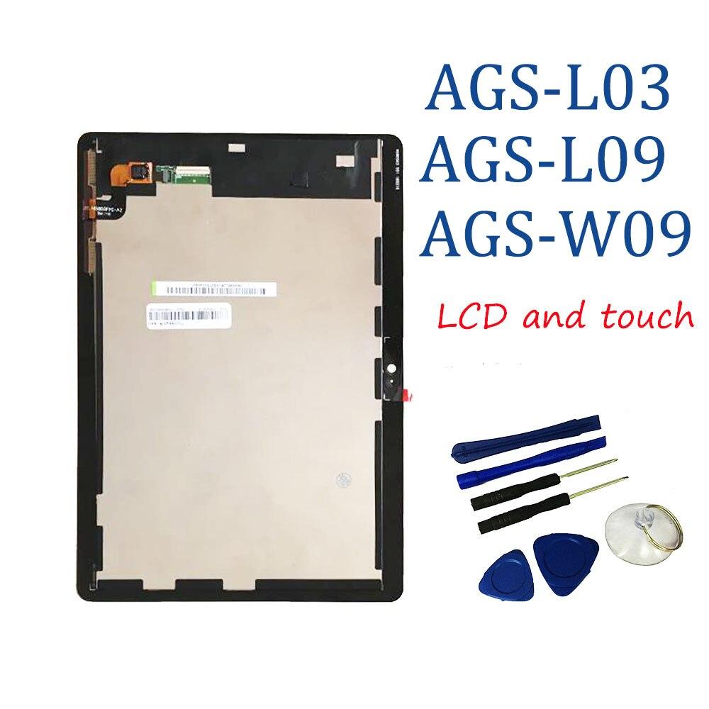 "9.6 ""עבור Huawei MediaPad T3 10 AGS-L09 AGS-W09 AGS-L03 T3 9.6 LTE LCD תצוגה עם מסך מגע Digitizer עצרת + כלים"