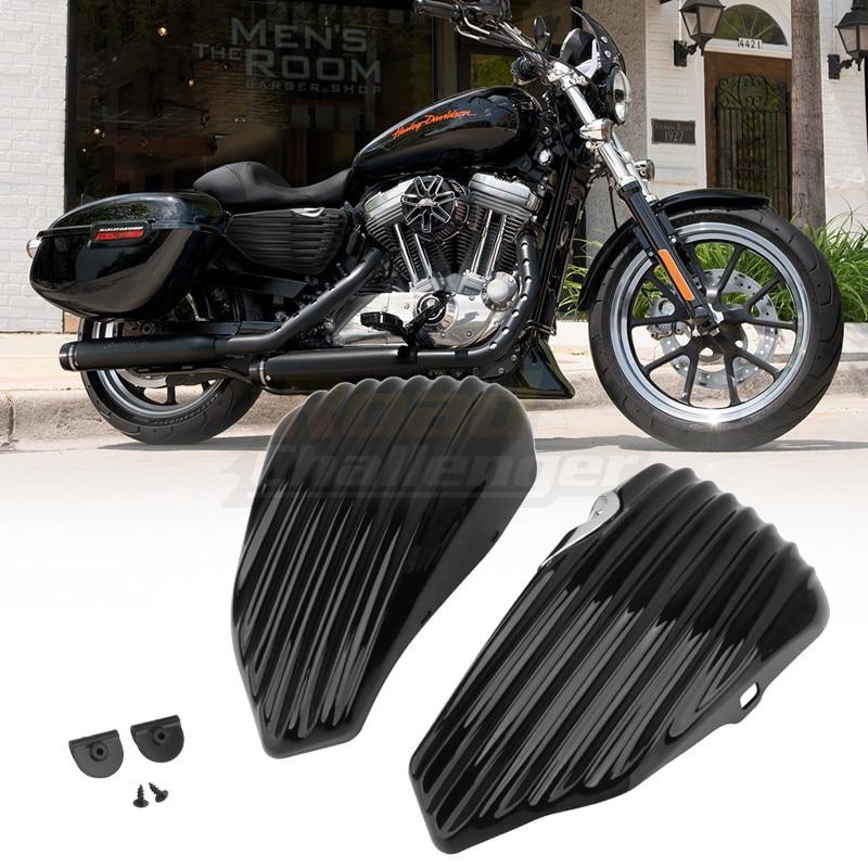 ABS البلاستيك دراجة نارية الجانب النفط خزان غطاء غطاء البطارية يناسب ل هارلي سبورتستر XL883 XL1200 2014-2020 19 18 17 16 15