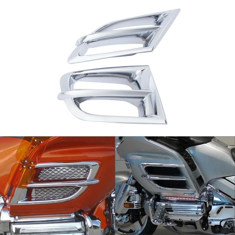 Motocicleta cromada izquierda derecha carenado Accent grillas para Honda Goldwing GL1800 2001-2011