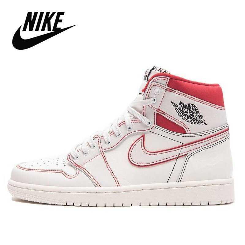Nike-zapatillas Nike Air Jordan 1 Retro alto OG, originales, Unisex, transpirables