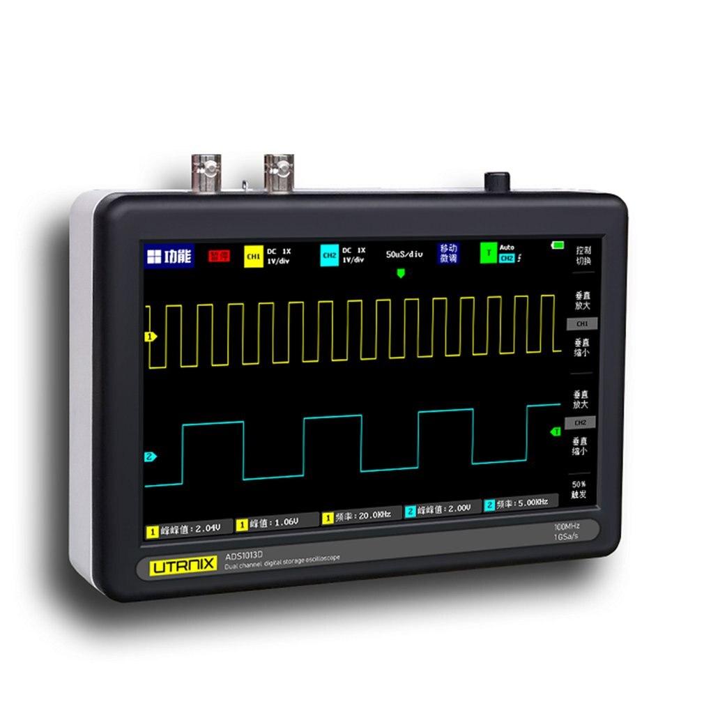 2 canales 100 MS/s MINI Nano1013D profesional portátil osciloscopio Digital sonda táctil Digital tableta osciloscopio