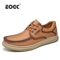 plus size handmade casual shoes men soft comfort natural leather men shoes outdoor walking flats shoes zapatillas hombre