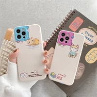 cartoon animal cat graffiti lens protection case for iphone 12 11 pro max 7 8 plus se 2020 xr x xs max silicon soft back cover