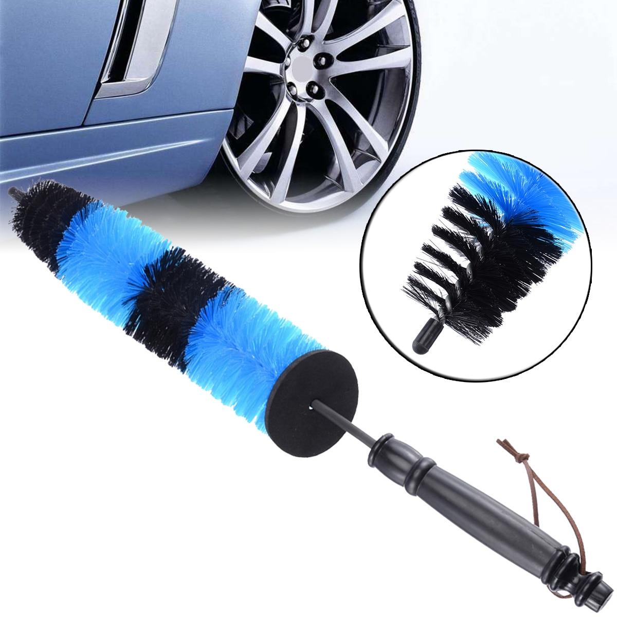 1 шт. многофункциональная щетка для мытья колес автомобильный двигатель решетка двигателя щетка для мытья колес инструмент для очистки обода шин синий