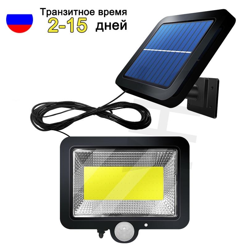 Luz LED Solar 100COB para jardín, Sensor de movimiento al aire libre,...
