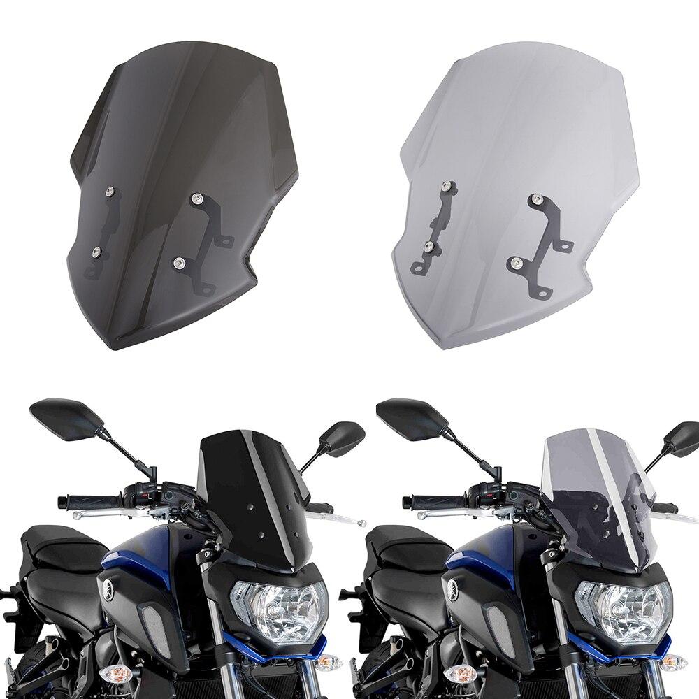 لياماها MT-07 FZ-07 MT07 FZ07 2018 2019 2020 Motorycle الزجاج الأمامي مزدوجة فقاعة الرياح شاشة انحراف