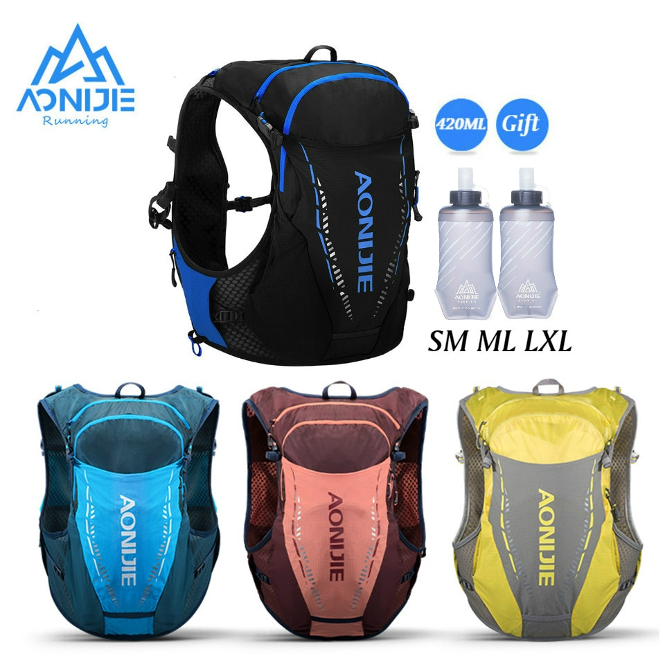 AONIJIE 2020 Newest C9103 Ultra Vest 10L Hydration Backpack Pack Bag Free Water Bladder Flask Trail Running Marathon Race Hiking