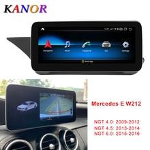 Kanor 10.25 Inch 4 + 64G Display Android 10.0 for Mercedes Benz E Class W212 E200 E230 E260 E300 S212 2009- 2015 Auto Stereo
