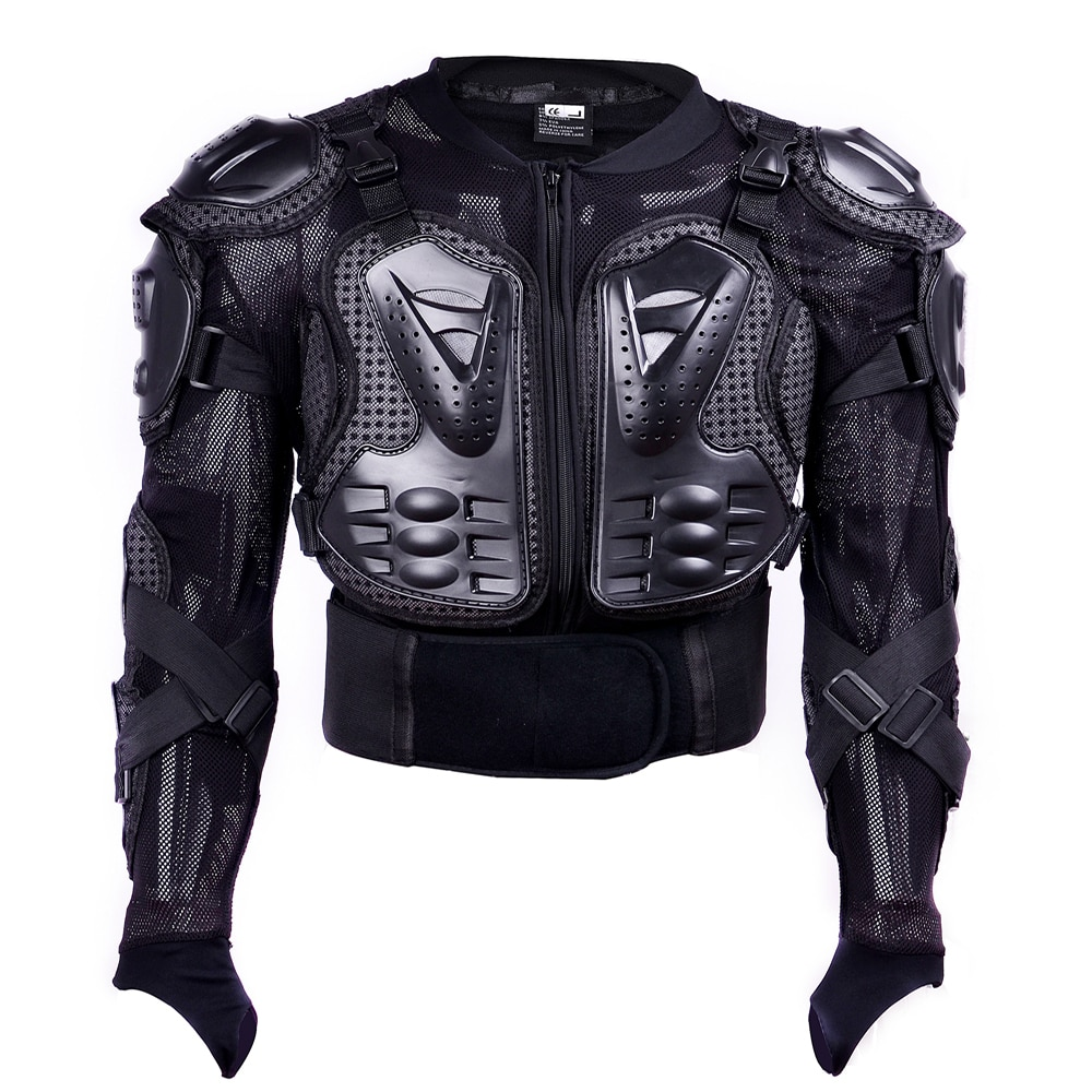 GHOST RACING Motorcycle Armor Jacket Motocross Racing Moto Clothing Back Chest Shoulder Full Body Protector Protective Gear wosawe motorcycle jacket full body armor back chest protector motocross racing clothing riding protective gear moto protection