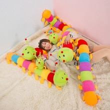 50/60/80CM Colorful Long Cognitive Plush Worm Stuffed Doll Toys Soft Worm Cushion Educational Gift f
