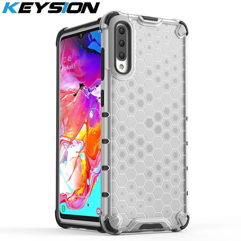 KEYSION Shockproof Case for Samsung A70 A50 A30 A20 A10 A40 A70s 50s 30s 20s 10s Airbag Phone Cover For Samsung S10 Note 10 Plus