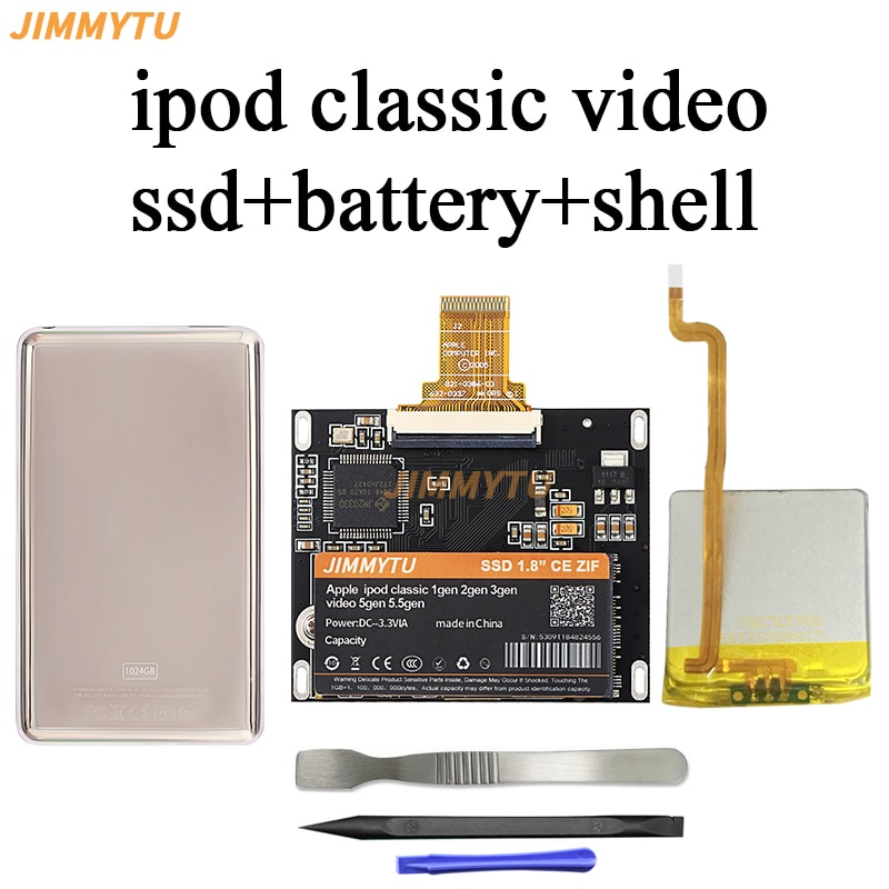 جديد SSD 256GB ل Ipod classic 7Gen 7th 160GB Ipod video 5th استبدال MK3008GAH MK8010GAH mk1634غال Ipod محرك أقراص صلبة HDD