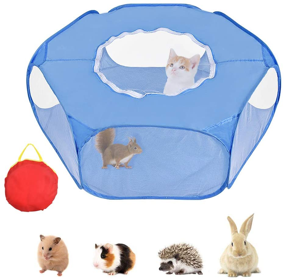 Tienda de juegos para animales pequeños, parque infantil con jaula abierta para...