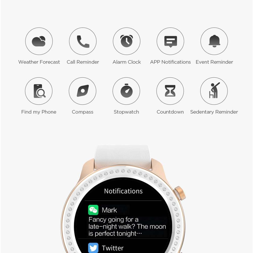 Global Version Amazfit GTR 42mm Smart Watch 5ATM Waterproof Smartwatch 24Days Battery GPS Music Control Leather Silicon Strap