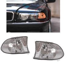 Luces de esquina indicador lateral luz intermitente para BMW E38 7-Series 740i 740iL 750iL 1999 2000 2001 lámpara de lente transparente