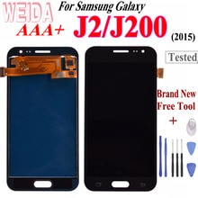 WEIDA para Samsung Galaxy J2 2015 J200 LCD Touch pantalla digitalizador montaje gratis herramienta para Samsung GALAXY J200F J200M J200H J200Y