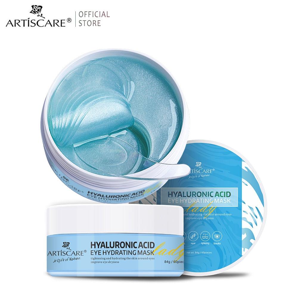 ARTISCARE Hyaluronic Acid Eye Mask Remove Puffiness Dark Circles Moisturizing Anti Wrinkle Collagen Eye Care Gel Patches 60pcs недорого