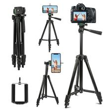 Black Professional Aluminum Camera Tripod Stand Holder + Phone Holder +Nylon Carry Bag for iPhone Smartphone four floor high UM