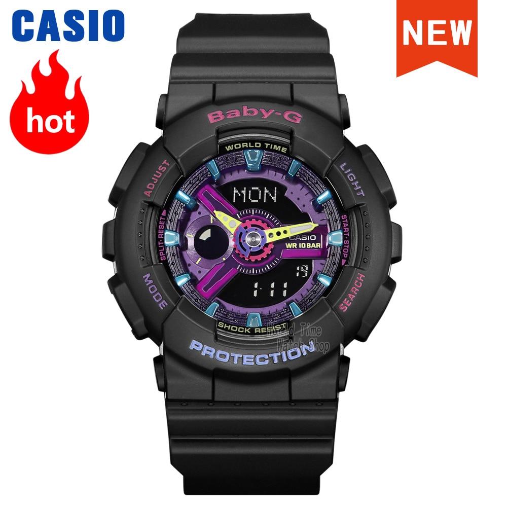 Casio watch Baby-G ladies watch girl women luxury brand rainbow candy color 100m waterproof LED digital quartz sports watch часы enlarge