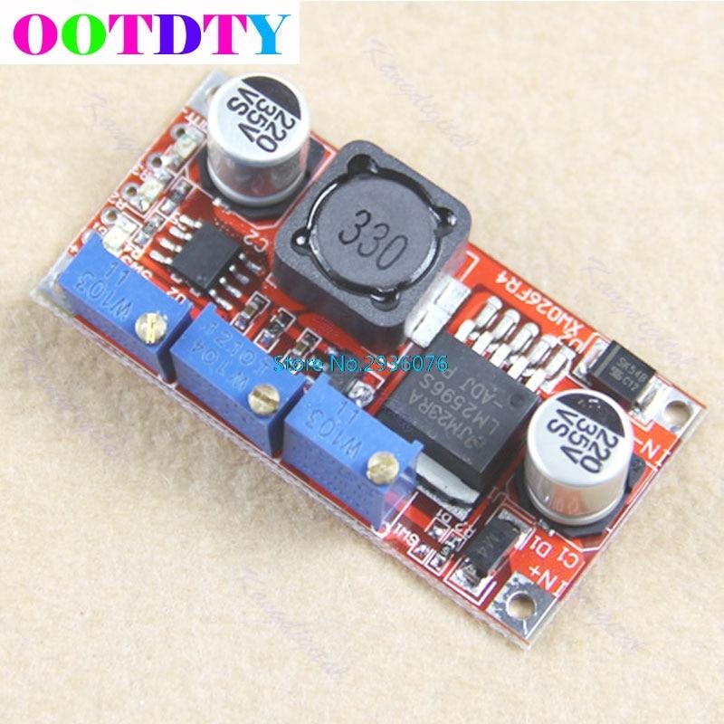 Módulo de fonte de alimentação cc/cv 1pc lm2596 led driver DC-DC step-down ajustável apr29_10