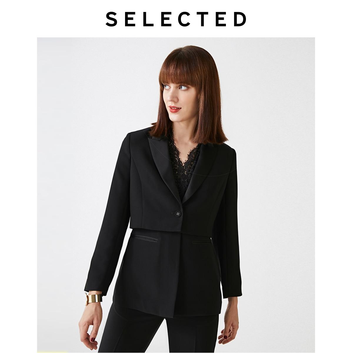 Las mujeres seleccionadas de encaje de temperamento de Cercanías de dos piezas chaqueta S   419372501