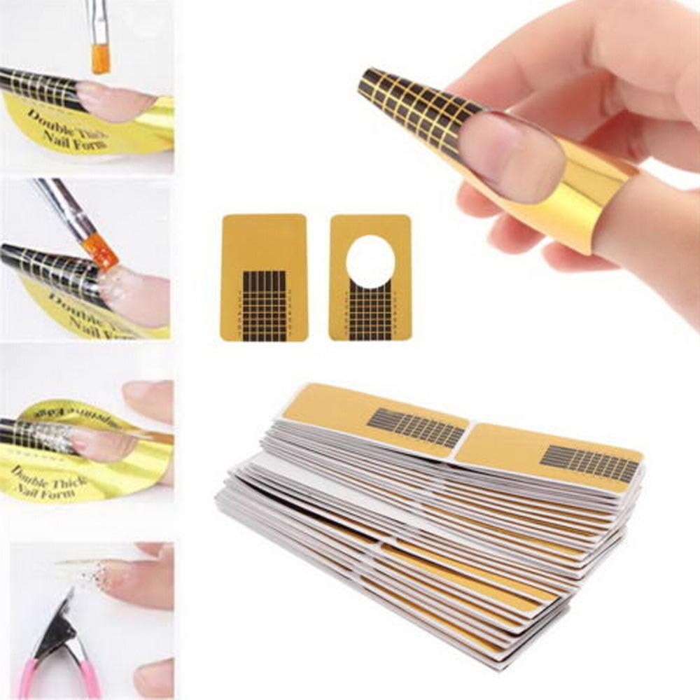 100Pcs Nail Art Tips Extension Forms Guide French DIY Tool Acrylic UV Gel High Quality Styling Tools