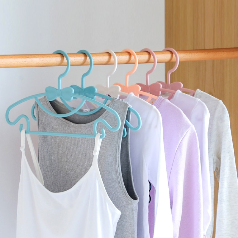 5/10/20pcs Portable Baby Hangers Clothes Saving Space In The Closet Plastic Drying Rack Household Pants Hangers for Clothes Kids