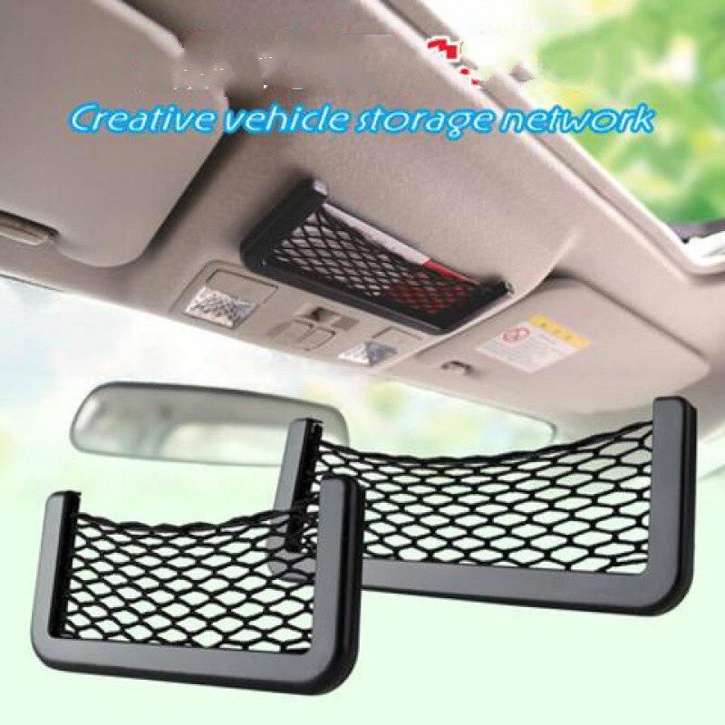 Para Jeep Compass 2017 2018 2019 2020 asiento de coche bolsa de almacenamiento de red soporte de teléfono maletero red organizador bolsillos accesorios de coche