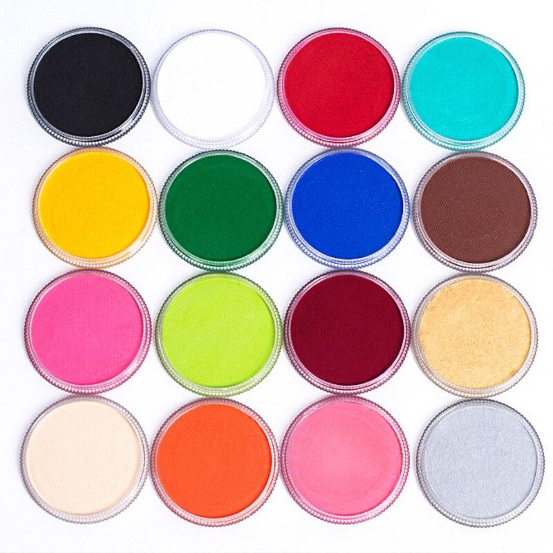 17 colores de pintura corporal cosméticos profesionales a base de agua mate pintura corporal pigmento etapa maquillaje facial herramienta de fiesta de Halloween
