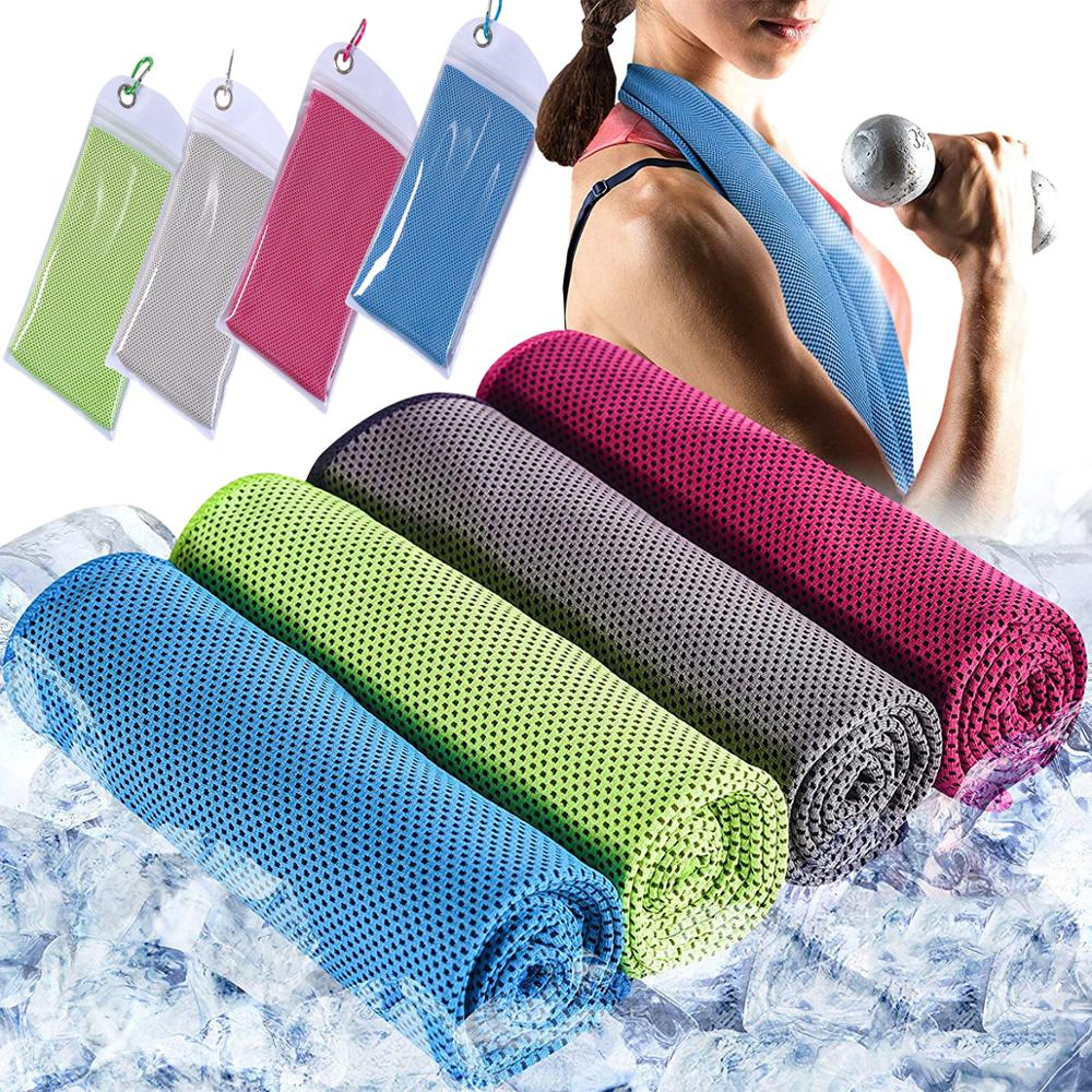 4PCS Ice Towel Rapid Cooling Microfiber Quick-Dry Ice Towels Fitness Yoga Enduring Instant Chill Towel multicolor sports face towel cooling ice utility enduring instant cozy ice cold for enduring running jogging gym