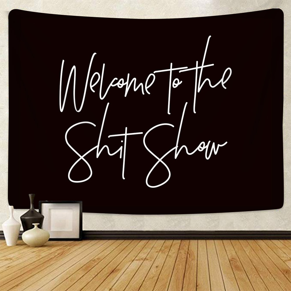 SOFTBATFY Welcome to the Show Tapestry Headboard Wall Art Bedspread Dorm Home Decor Dropshipping