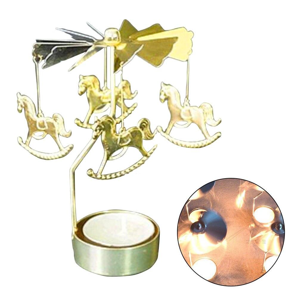 Вращающиеся вращающиеся подсвечники для свадебной вечеринки, рождественские украшения для дома, Металлические Подсвечники Tealight